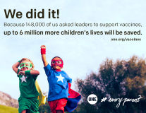 We did it! New vaccine funding will save millions of lives